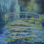 Inspired by Monet The Waterlily Pond by Elena Lukina