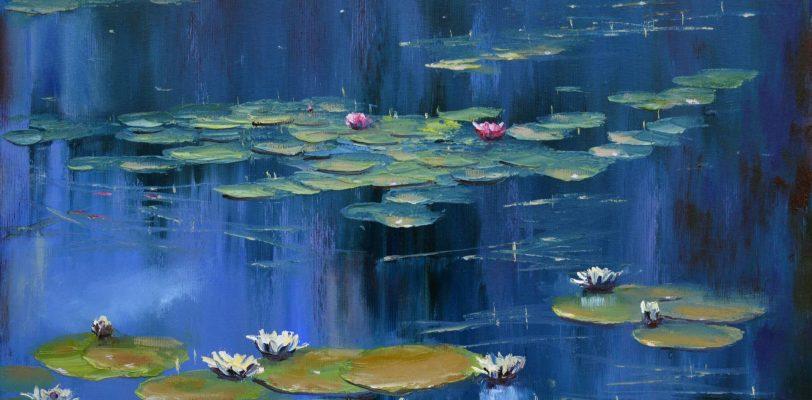 Blue pond by Elena Lukina