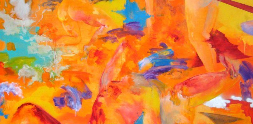 Orange Battlefield by Tijana Titin