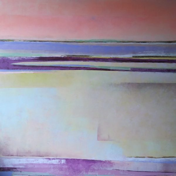 Lake Aubergine Painting by Victoria Primicias