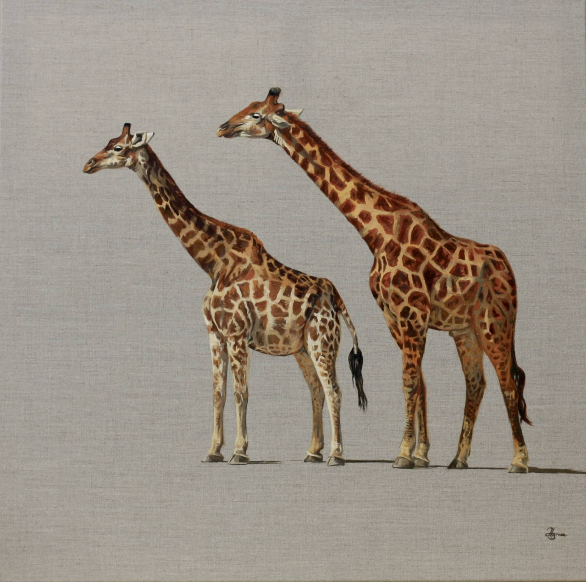 Pair of Giraffe by Hannah Bruce