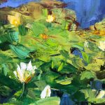 Lilypond with Palette Knife by Nataliia Nosyk